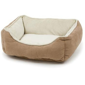 Petco Puffy Box Dog Bed in Tan
