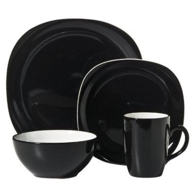 CCA International Duo Quadro 16-pc. Dinnerware Set - Black