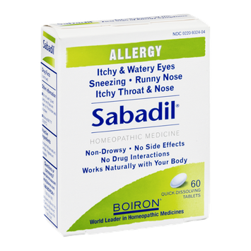 Boiron Sabadil Allergy Homeopathic Medicine Tablets - 60 CT