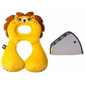 BenBat Travel Friends Head & Neck Support with Seat Belt Adjuster, 1-4 Years, Lion