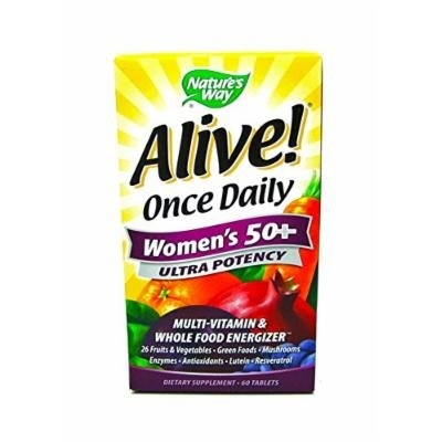 Alive! Once Daily Women's 50+ Ultra Potency Multi-vitamin & Whole Food Energizer 60 Tablets