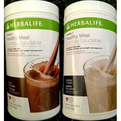 2 HERBALIFE FORMULA 1 NUTRITIONAL SHAKE DUTCH CHOCOLATE AND COOKIES AND CREAM MIX Shipped from USA And Fast Shipping