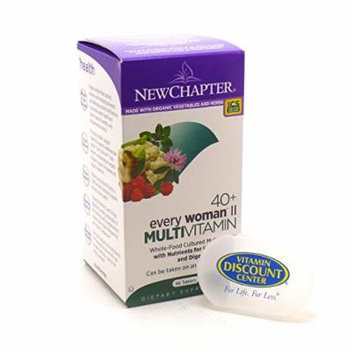 Bundle - 2 Items: 1 Bottle of Every Woman 2 - 40 Plus Whole Food Multi By New Chapter - 96 Tablets and 1 VDC Pill Box