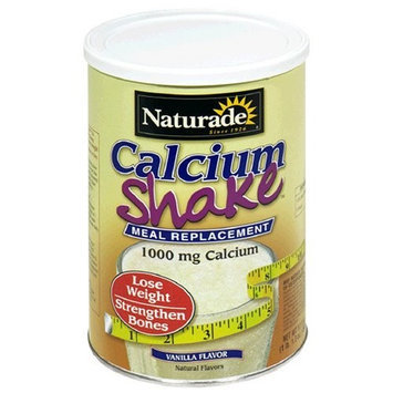 Naturade Calcium Shake Meal Replacement, Vanilla Flavor, 17.3-Ounce Canisters (Pack of 2)