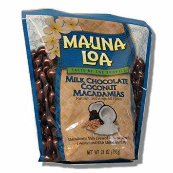 Mauna Loa Milk Chocolate Coconut Macadamia Nuts Bag, 28-Ounce