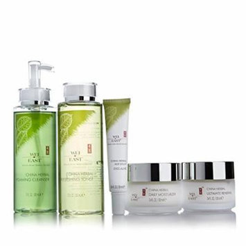 Wei East China Herbal Toner, Cleanser, Moisturizer, Ultimate Renewal and Eyes Alive Double Beauty Secret