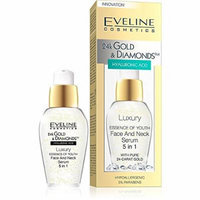 Eveline Cosmetics 24K Gold and Diamond Luxury Essence of the Youth Face and Neck Serum 5 in 1