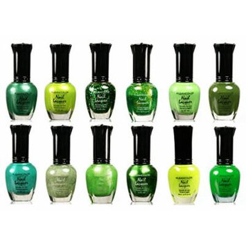 Kleancolor Nail Lacquer Collection - Awesome Assorted Green Full 12pc Set