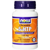 Now Foods 5-HTP Chewable Lozenges Tablets Super Pack, 100 mg, 180 Chewables