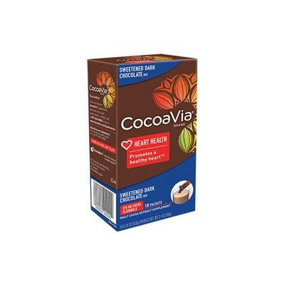 CocoaVia Daily Cocoa Extract Supplement Sweetened Dark Chocolate 375 Mg - 10 Packets