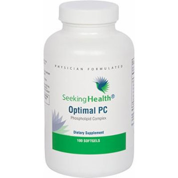 Optimal PC , 100 Softgels , Provides 800 mg of Blended Phospholipids (Phosphatidycholine, Phophatidylethalnolamine, and Phosphatidylinositol) , Non-Soy , Non-GMO , Free of Common Allergens , Seeking Health , Physician-Formulated