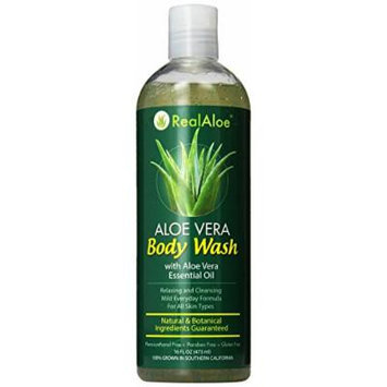 Real Aloe Body Wash, Aloe Vera, 16 Fluid Ounce
