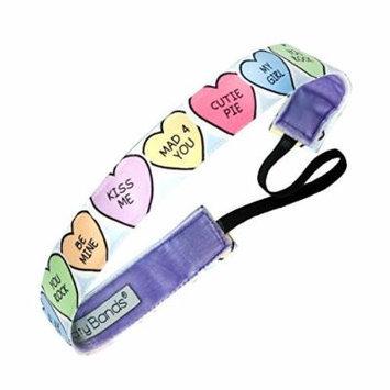 Sweaty Bands Valentines Fitness Headband - Candy Hearts 1