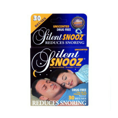 Silent Snooz Snore Relief - Unscented (30 Reuses)