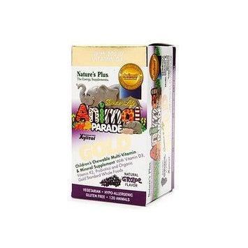 Nature's Plus Animal Parade Gold Children's Chewable Multi-Vitamin & Mineral, Grape 120 ea