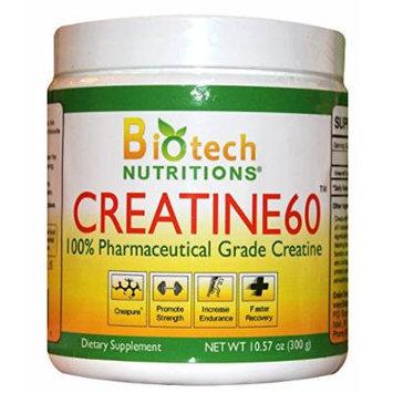 Biotech Nutritions Creatine 60 Dietary Supplement, 300 Gram
