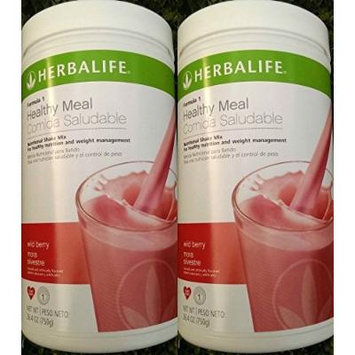 2 HERBALIFE FORMULA 1 NUTRITIONAL SHAKE Wild Berry MIX Shipped from USA And Fast Shipping