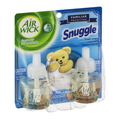 Air Wick Snuggle Scented Oil Refills Fresh Linen - 2 CT