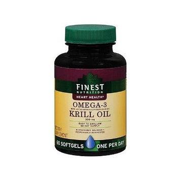Finest Nutrition Omega-3 Krill Oil 300mg Softgels, 60 Ea