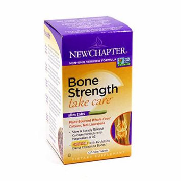 Bundle - 2 Items: 1 Bottle of Bone Strength Take Care By New Chapter - 120 Tablets and 1 VDC Pill Box
