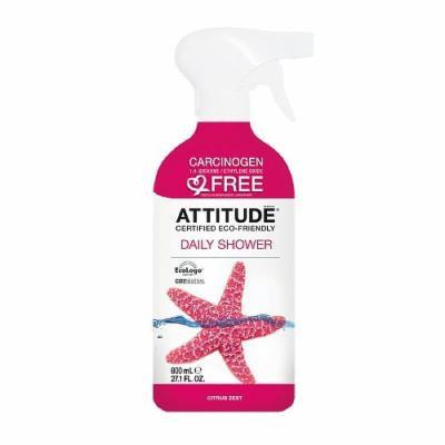 Attitude Daily Shower Cleaner, Citrus Zest 27.1 fl oz(pack of 2)