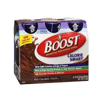 Boost Calorie Smart Balanced Nutritional Drink, 8 oz Bottles, Rich Chocolate 6 ea