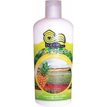 Hawaii Bubble Shack Kukui and Shea Silky Hand & Body Lotion Juicy Pineapple 4 Bottles