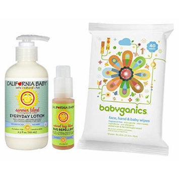 California Baby Summer Blend with Bug Spray & All-Over Wipes