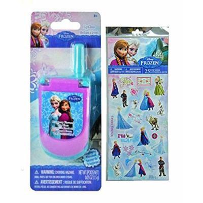 Disney Frozen Lip Gloss Cell Phone Featuring Elsa & Anna! Plus Bonus Disney Frozen 25pk Sticker Sheet!