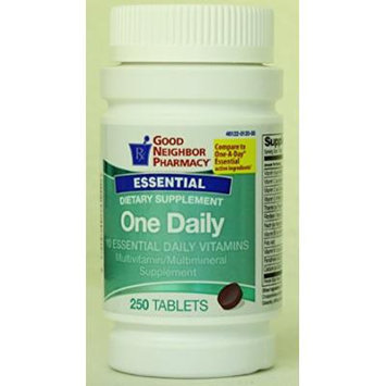 GNP One Daily 10 Essential Vitamins - 250 Tablets