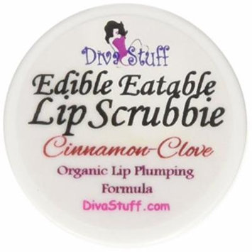Cinnamon & Clove Natural Lip Plumping Formula Lip Scrubbie by Diva Stuff - 1/4 ounce