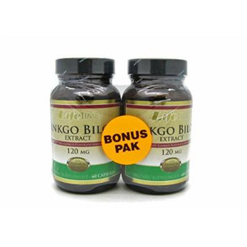 LifeTime Ginkgo Biloba Extract 120mg 60 Capsules *Bonus Pack*