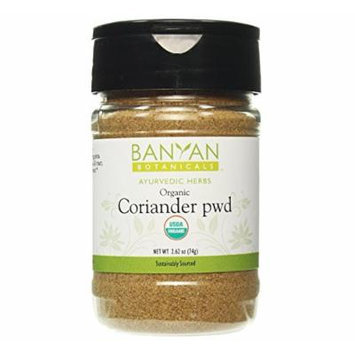 Banyan Botanicals Coriander Powder - Certified Organic, Spice Jar - Coriandrum sativum - A cooling household spice that promotes healthy digestion
