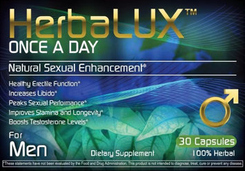 HerbaLUX - Once a Day Natural Sexual Enhancement for Men - 30 Capsules