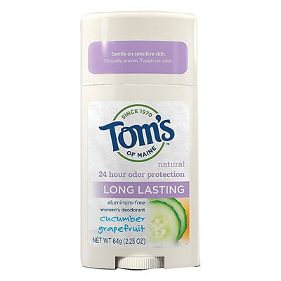Tom's OF MAINE Natural Long Lasting Women's Deodorant Stick Cucumber Grapefruit