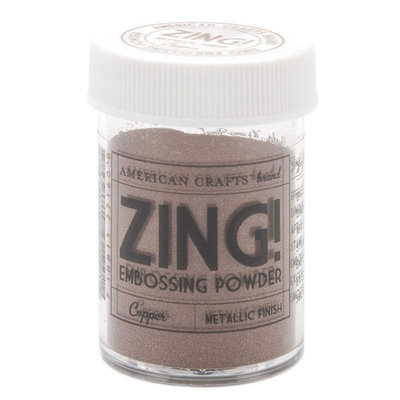 American Crafts Zing! Metallic Embossing Powder 1 Oz-Copper