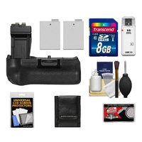 Zeikos BG-E8 Battery Grip for Canon EOS Rebel T2i, T3i, T4i & T5i Digital SLR Camera with 2 LP-E8 Batteries + 8GB Card + Accessory Kit