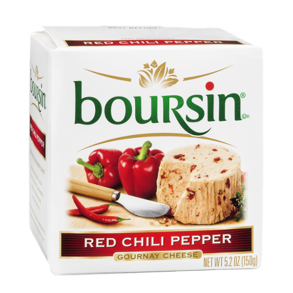Boursin Red Chili Pepper Gournay Cheese