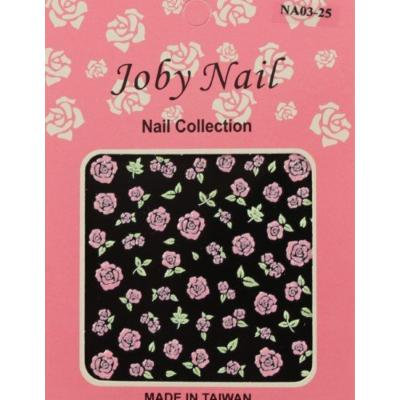 Nail Sticker/Nail Art - 3D Collection - Pink Roses