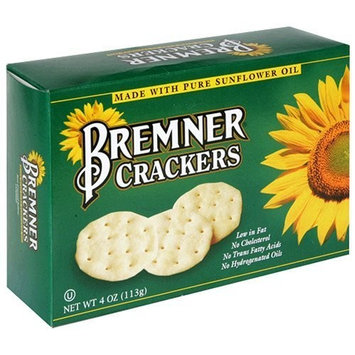 Bremner Crackers Made with Pure Sunflower Oil, 4-Ounce Boxes (Pack of 12)