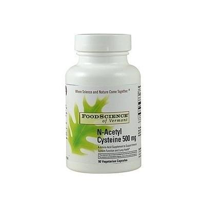 FoodScience of Vermont N-Acetyl Cysteine, 500mg, Vegetarian Capsules 90 ea