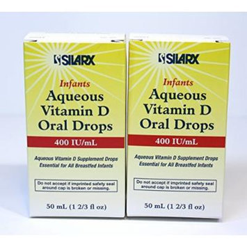 Infants Aqueous Vitamin D Oral Drops 400IU/ml 2-Pak (2 x 50ml)