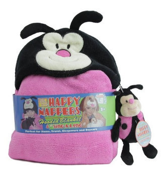 Happy Nappers Hooded Blanket with SingaLong Ladybug