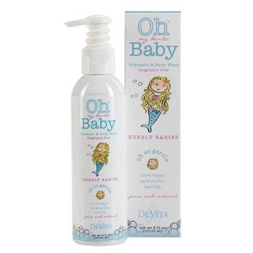Oh my devita Baby Bubbly Babies Bodywash and Shampoo, Fragrance Free, 6 fl oz