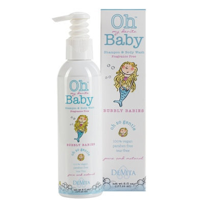 Oh my devita Baby Bubbly Babies Bodywash and Shampoo, Fragrance Free, 6 fl oz
