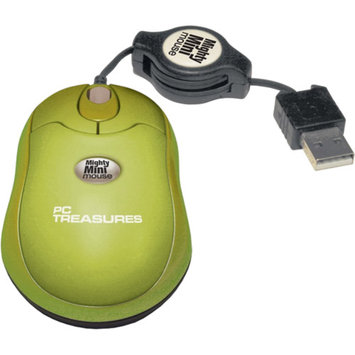 PC Treasures Retractable Mighty Mini Mouse, Green