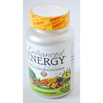 Enhanced Energy Whole Food Multivitamin 1 Daily 60 Vegetarian Tablets