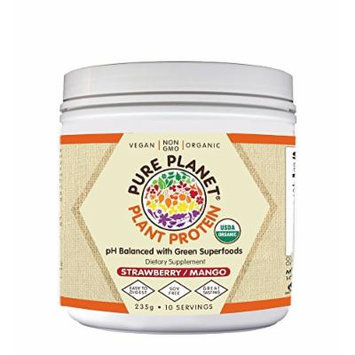 Plant Protein Strawberry Mango Pure Planet Products 235g Powder