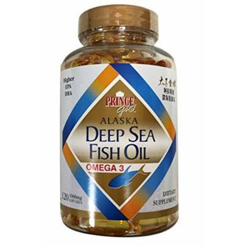 Prince Gold Alaska Deep Sea Fish Oil Omega 3 /Higher EPA DHA Dietary Supplement 120 Soft Gels