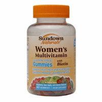 Sundown Naturals Women's Multivitamin with Biotin Gluten-Free Gummies 60 Count Pack of 2